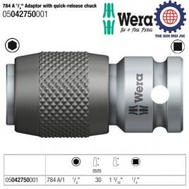 Đầu chuyển 784 A 1/ 4″ Adaptor with quick-release chuck – Wera 05042750001