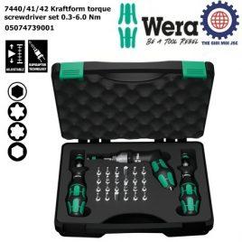 Bộ tua vít lực 7440/41/42 Kraftform torque screwdriver (0.3-6.0 Nm), Wera 05074739001