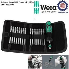 Bộ dụng cụ chỉnh lực Wera 05059293001 Kraftform Kompakt 60 Torque 1,2 – 3,0Nm gồm 17 cái