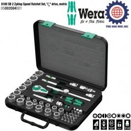 Bộ đầu tuýp 8100 SB 2, 3/8″ hệ mét,WERA 05003594001