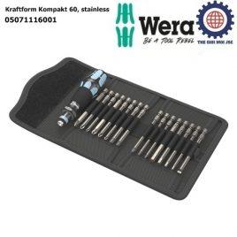 Bộ dụng cụ mở vít thép không gỉ Kraftform Kompakt 60 Wera 05071116001