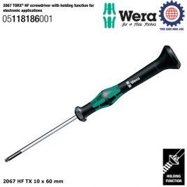 Tua vít điện tử hoa thị 2067 HF TX 10 x 60 mm với chức năng giữ vít – Wera 05118186001