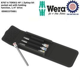 """Bộ tuýp đầu vít 8767 A TORX® HF 1 Zyklop,chức năng giữ, 1/ 4"""" – WERA 05003375001"""