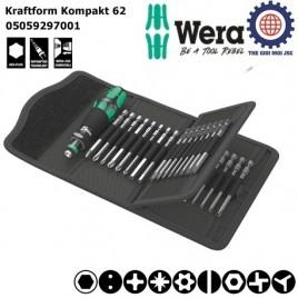 Bộ dụng cụ mở vít Wera Kraftform Kompakt 62 Wera 05059297001