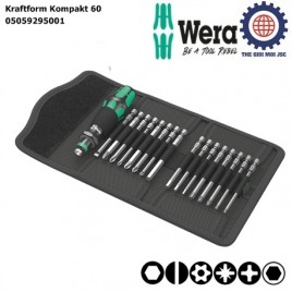 Bộ dụng cụ Wera mở vít 17 chi tiết Kraftform Kompakt 60 Wera 05059295001