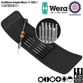 Bộ tua vít chống tĩnh điện Kraftform Kompakt Micro 11 ESD 1 gồm 11 cái Wera 05073670001