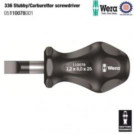 Tua vít chế hòa khí 336 Stubby/Carburettor screwdriver – WERA 05110078001