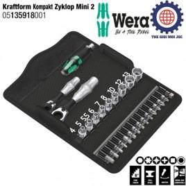 Bộ đầu tuýp Kraftform Kompakt Zyklop Mini 2 (27cái) – WERA 05135918001