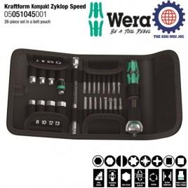 Bộ tuýp Kraftform Kompakt Zyklop Speed 1/4″ gồm 26 chi tiết Wera 05051045001