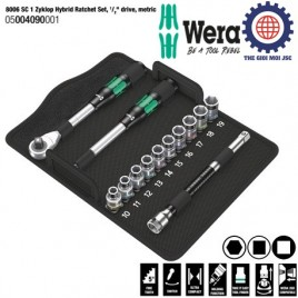Bộ tuýp 1/2″ 8006 SC 1 Zyklop Hybrid Ratchet Set (13 cái) – WERA 05004090001