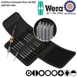 Bộ tua vít chống tĩnh điện Kraftform Kompakt Micro 20 ESD 1 Wera 05073671001