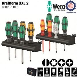 Bộ tua vít điện 12 chiếc tổng hợp Kraftform XXL 2 (350 PH,355 PZ,367 TORX,160 i VDE) Wera 05051011001