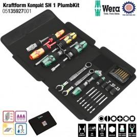 Bộ dụng cụ cao cấp bảo trì & sửa chữa Kraftform Kompakt SH 1 PlumbKit – Wera 05135927001