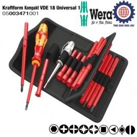 Bộ tua vít cách điện Wera 18 chi tiết Kraftform Kompakt VDE 18 Universal 1 Wera 05003471001