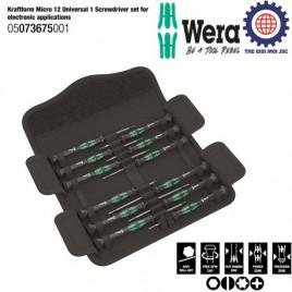 Bộ tua vít điện tử 12 chiếc WERA 05073675001 dòng Mini
