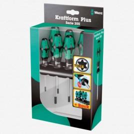 Bộ tua vít hoa thị 6 chiếc 367/6 TORX® Screwdriver set Kraftform Plus and rack Wera 05028062001