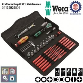 Bộ dụng cụ cao cấp bảo trì máy Kraftform Kompakt W 1 Maintenance – WERA 05135926001