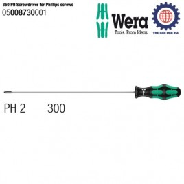 Tua vít dài 350 PH Screwdriver for Phillips screws, PH2 x 300mm – Wera 05008730001
