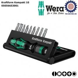 Bộ dụng cụ Wera Kraftform Kompakt 10 Wera 05056653001