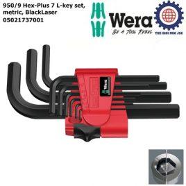 Bộ khóa lục giác ngắn 950/9 Hex-Plus 7 L-key set, metric, BlackLaser Wera 05021737001