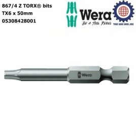 Đầu vít hoa thị  867/4 Z TX 6 x 50 mm Wera 05308428001