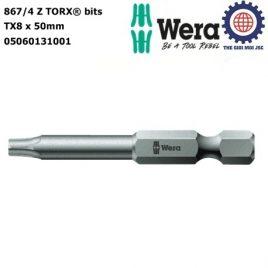 Đầu vít hoa thị  867/4 Z TX 8 x 50 mm Wera 05060131001