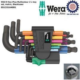 Bộ khóa lục giác ngắn nhiều màu sắc 950/9 Hex-Plus Multicolour 2 hệ mét Wera 05133164001