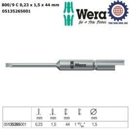 Đầu vít dẹp 0.23×1.5×44 Halfmoon Wera 05135265001