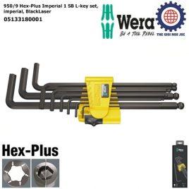 Bộ khóa lục giác hệ inch 950/9 Hex-Plus Imperial 1 SB, 9 cái, Wera 05133180001