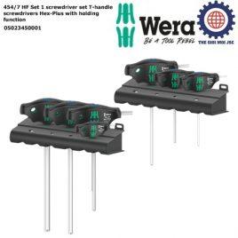 Bộ vít lục giác T Hex – Plus với chức năng giữ 454/7 HF Set 1 screwdriver set T-handle screwdrivers Hex-Plus with holding function Wera 05023450001