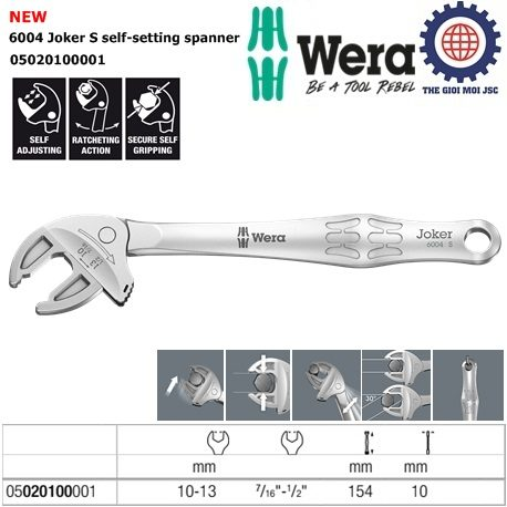 6004 Joker S self-setting spanner Wera 05020100001