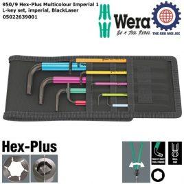 Bộ lục giác bi dài hệ Inch nhiều màu sắc 950/9 Hex-Plus Multicolour Imperial 1 gồm 9 cái Wera 05022639001