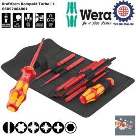 Bộ tua vít cách điện 16 cái Kraftform Kompakt Turbo i 1 Wera 05057484001
