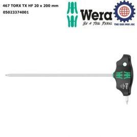 Tay vặn hoa thị chữ T 467 TORX TX HF 20 x 200 mm với chức năng giữ vít Wera 05023374001
