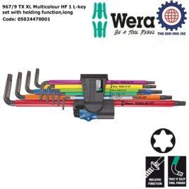 Bộ hoa thị dài nhiều màu sắc với chức năng giữ vít 967/9 TX XL Multicolour HF 1 Wera 05024470001