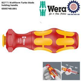Cán vít cách điện 827 T i Kraftform Turbo blade holding handle Wera 05057481001