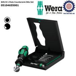 Bộ đầu vít 845/8 1-flute Countersink Wera 05104655001