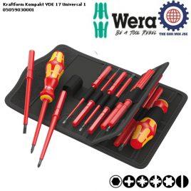 Bộ tua vít cách điện 17 chiếc Kraftform Kompakt VDE 17 Universal 1 Wera 05059030001