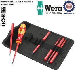 Bộ tua vít cách điện 7 chiếc Kraftform Kompakt VDE 7 Universal 1 Wera 05003470001