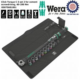 Bộ cần xiết cân chỉnh lực Click-Torque C 3 set 2 for cement screwdriving 40-200 Nm Wera 05075681001