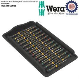 Bộ tua vít điện tử chống tĩnh điện Wera 05134019001 Kraftform Micro ESD Big Pack 1 screwdriver set for electricians