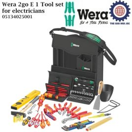 Bộ dụng Wera 2go E 1 Tool set for electricians Wera 05134025001 cho sửa chữa điện kết hợp thương hiệu Jung, KNIPEX®, Lyra®, PICARD®, PUK® và Stabila®